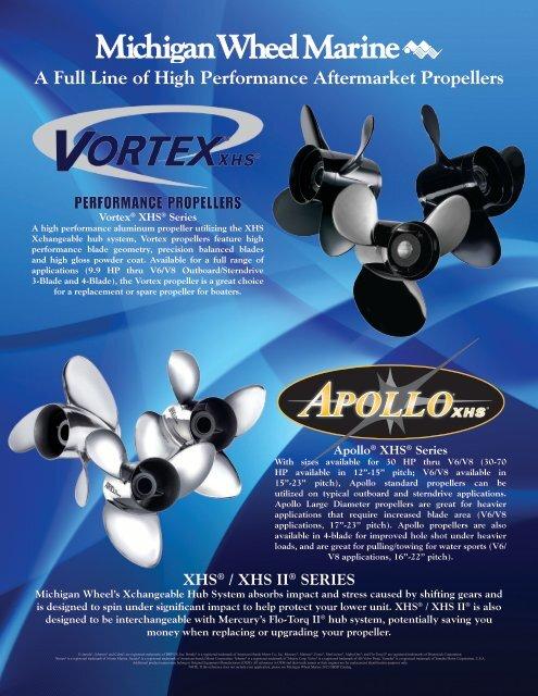 Michigan Match Vortex Aluminum Propeller For Yamaha 30-60HP 10 3//8 x 14 992407