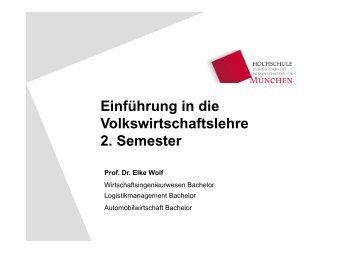 Einführung in die Volkswirtschaftslehre Volkswirtschaftslehre 2 ...