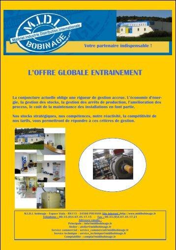 L'OFFRE GLOBALE ENTRAINEMENT - MIDI Bobinage