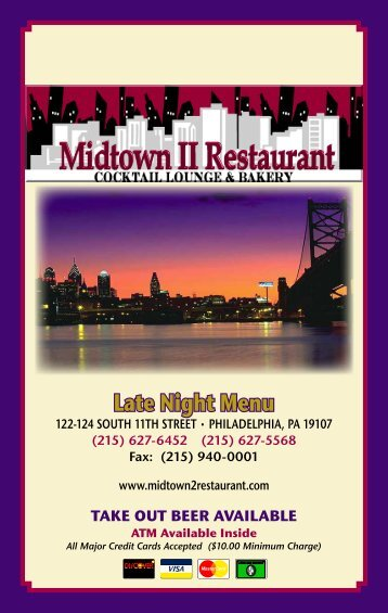Served 24 Hours • 7 Days a Week! - Midtown II Restaurant