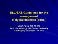 ESC/EAS Guidelines for the management of dyslipidaemias (cont.,)