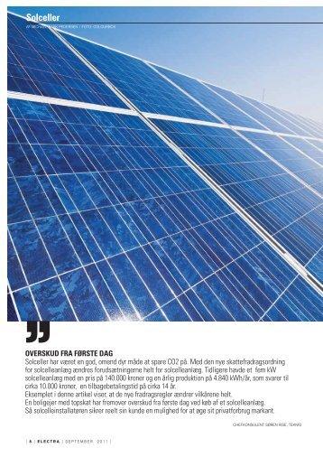 Afskrivning af solcellanlæg - Dansk Solenergi RI