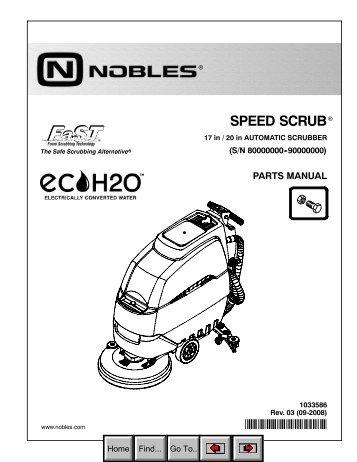 Nobles speed scrub parts manual abejan online catalog.