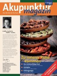 Akupunkturmagazin 4. Quartal 2012 - Traditionelle Chinesische ...