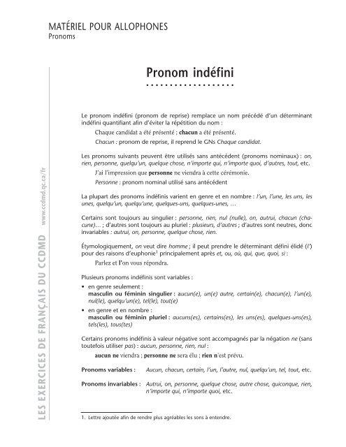 Pronom Inda C Fini Ccdmd