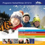 Programm Herbst/Winter 2013/14 - Volkshochschule Dresden