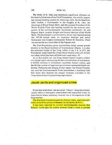 .Jacob Javits and organized crime - lyndon larouche