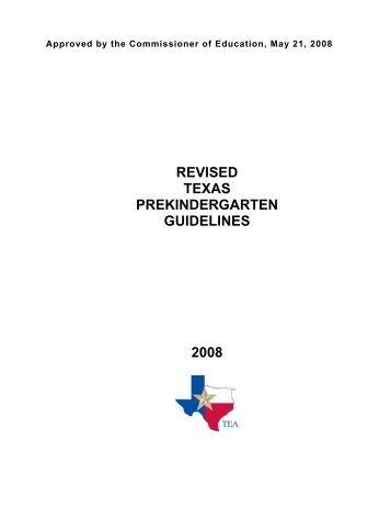 Texas Prekindergarten Guidelines - TEA - Home School Information ...