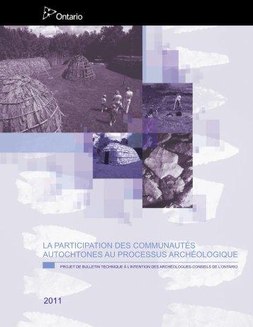 La participation des communautés autochtones au processus ...