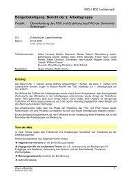 Bürgerbeteiligung: Bericht der 2. Arbeitsgruppe - Echternach