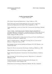 Leseliste Internationale Politik 2. Ausgabe, Februar 2003 Clive ...