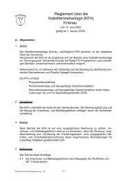 Reglement über die Kabelfernsehanlage (KFA) Knonau