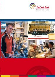 Godišnji izvještaj 2007 Bosna i Hercegovina - ProCredit