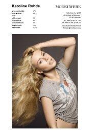 Karoline Rohde - Modelwerk