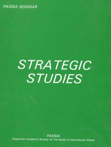 strategic studies - PASSIA Online Store