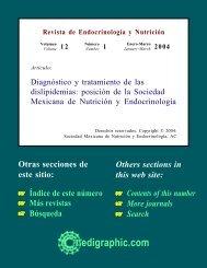 Diagnóstico y tratamiento de las dislipidemias ... - edigraphic.com