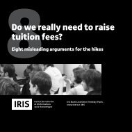 Do we really need to raise tuition fees? - IRIS