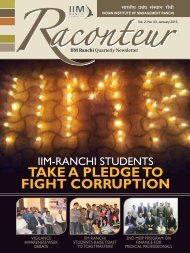 TAKE A PLEDGE TO FIGHT CORRUPTION - IIM Ranchi