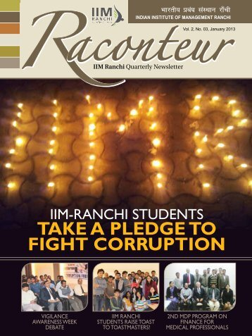 TAKE A PLEDGE TO FIGHT CORRUPTION - IIM Ranchi