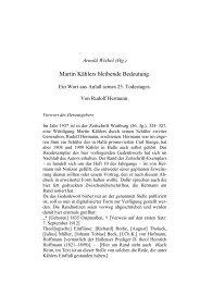 Rudolf Hermann, Martin Kählers bleibende Bedeutung.
