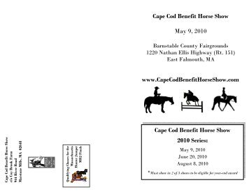 Cape Cod Benefit Horse Show May 9, 2010
