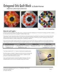 Octagonal Orb Quilt Block by Elizabeth Hartman - The Modern Quilt ...