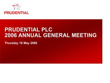 Annual General Meeting - Prudential plc