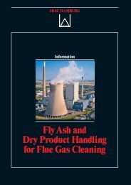 FlyAsh and Dry Product Handling for Flue Gas Cleaning