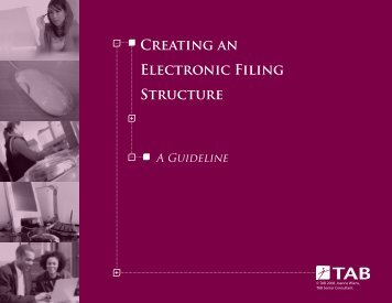Creating an Electronic Filing Structure - TAB