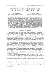 Thirty Years of Research on Race Differences in - Psychology ...