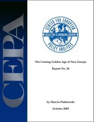 CEPA Report No. 26, The Coming Golden Age of New Europe