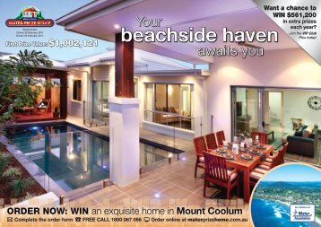 ORDER NOW: WIN an exquisite home in Mount Coolum