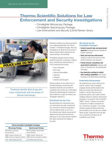 Thermo Scientific Solutions for Law Enforcement ... - Nicolet CZ sro