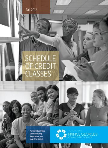 schedule of credit classes - Prince George's Community College