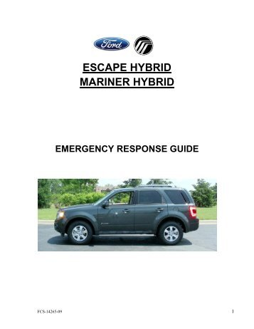 ESCAPE HYBRID MARINER HYBRID - DealerConnection