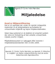 Miljøledelse af Agenda 21 Center Indre Nørrebro Pixibog til ansatte