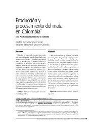 Producción y procesamiento del maíz en Colombia - Universidad de ...