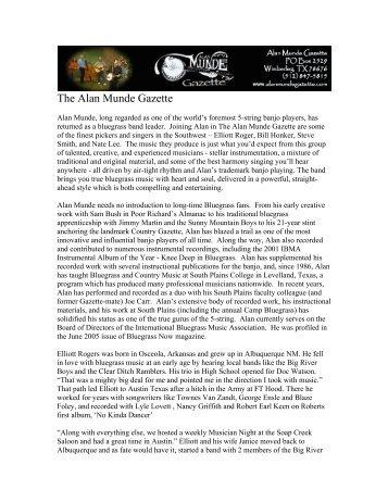 The Alan Munde Gazette