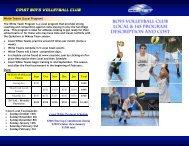 COAST BOYS volleyball club