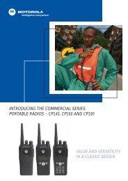 introducing the commercial series portable radios - SOVT-Radio sro