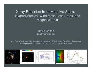 X-ray Emission from Massive Stars: - Astronomy at Swarthmore ...