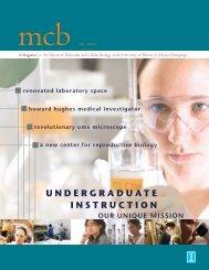 undergraduate instruction - The School of Molecular and Cellular ...