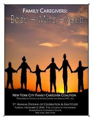 New York City Family Caregiver Coalition – Complete Journal 2010