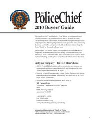 IAC 160 2010 Buyers' Guide_3.indd - Police Chief Magazine