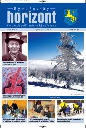Rýmařovský horizont 4 - 2011 - Středisko volného času Rýmařov