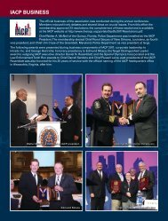 IACP Business - Police Chief Magazine