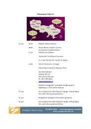 Rejseprogram Pakke 4a 13. juni 06.30 Mødetid i Billund lufthavn ...