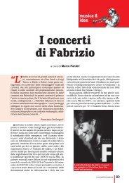 I concerti di Fabrizio - Omaggio a Fabrizio De André