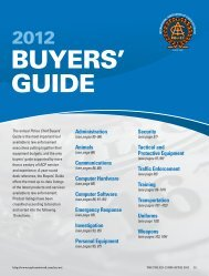 2012 Buyers' Guide - Police Chief Magazine