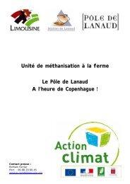 Unité de méthanisation à la ferme Le Pôle de ... - Limousine.org